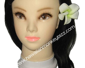 INVERTED PLUMERIA - Foam Hair Picks or Clips - Your Choice of 3 . . .