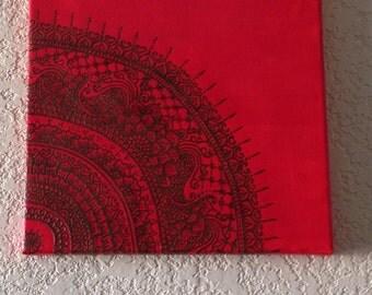 Mandala Original Painting, Henna Art Design, Global Henna Art, One of a Kind, Unique, Handmade