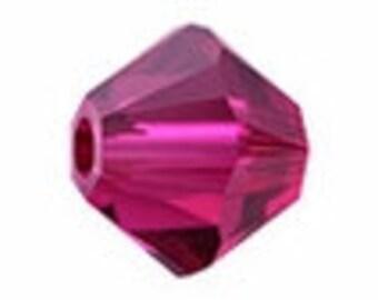 Ruby Swarovski Crystal bicone 8mm #397