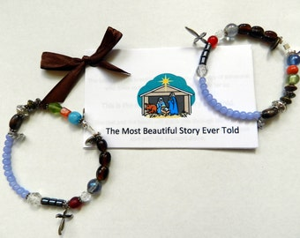 The Most Beautiful Story Ever Told - Jesus' life - Bracelet - Christmas - Easter - Greatest Story Ever Told