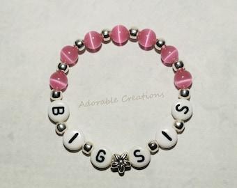 Big Sister Flower Bracelet - U PICK Color