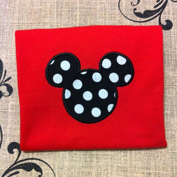 Mickey Mouse Applique Shirt