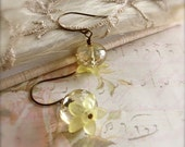 Yellow Flower Earrings - Flower Fairy