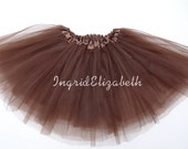 Brown Tutu BALLET Skirt / FAST SHIPPING / Child Toddler Costume, Birthday Tutus, Dress Up tutus, Dance tutu, Princess tutu