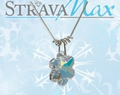 Snowflake Crystal Necklace -  sterling silver snake chain necklace - Swarovski crystal snowflake - choose your own length