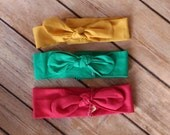 Pack of 3 Handmade Vintage Fabric Headbands