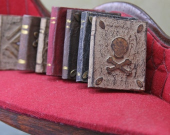 Doll House Miniature - Large Decorated Books