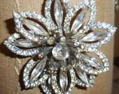 Weiss 3D Flower Brooch Gorgeous Vintage Valentine Gift