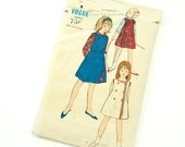 Childs Size 8 Blouse with Reversible Jumper Dress 60s Vogue Pattern 5961 / Complete Uncut