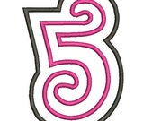 Curlz Numbers Embroidery Machine Double Applique Alphabet Fonts 4323