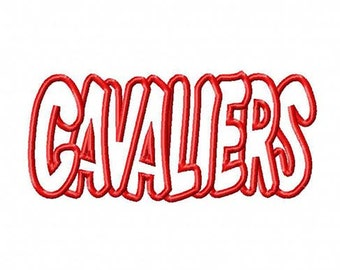 Cavaliers Embroidery Machine Applique Design Design 4291