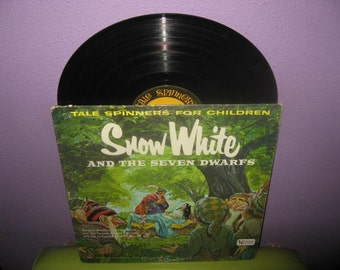 FINAL SALE Vinyl Record Album Snow White & the Seven Dwarfs - Tale Spinners for Children LP 1960s Children's Classics