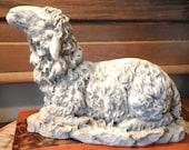 Large Sheep Lamb Easter Painted Faux Concrete Color Paint Chalk Paint