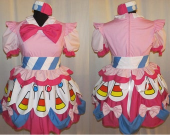 My Little Pony Pinkie Pie Cosplay Costume Size 4 6 8 10 12 14