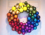 CUSTOM LISTING  for Antonia  24in. Colorwheel Ornament Wreath