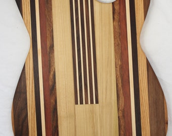 Guitar - Fender Stratocaster shaped cutting board made to order