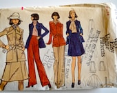Very Easy Vogue 8474 Misses Jacket, Skirt and Pants Size 14 UNCUT