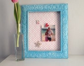 Turquoise Pink Magnetboard Girls Polka Dots Room Decor Gift