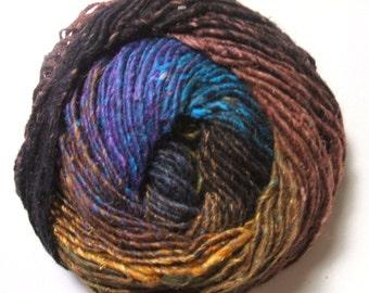 Noro Silk Garden Blue Black Brown Mohair Wool Yarn  Per Skein 394 Lot B