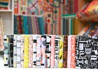 Distrikt Fat Eighth Bundle by Erin McMorris (18 FEs) - Free Spirit Fabric (Modern, geometric)