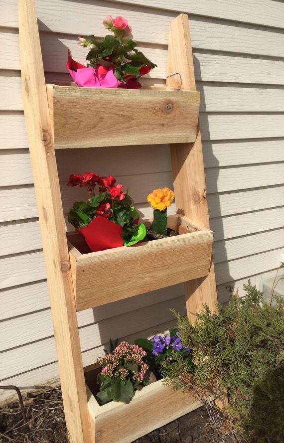 Barn Wood Ladder Shelf Or Planter