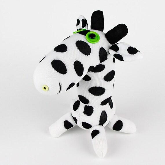 Free Shipping  Handmade Sock Giraffe Stuffed Animal Doll Baby Toys
