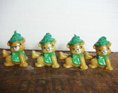 Saint Patrick's Day Candles Set of 4 - Bears