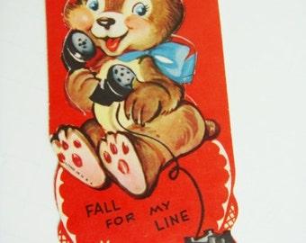 Telephone Valentine - Bear and Telephone