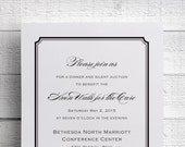 Print Your Own Invitation Corporate Dinner Invitation Company Dinner Invitation Fundraiser Invitation