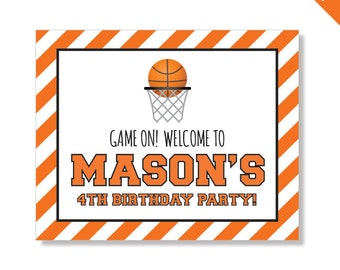 Basketball Party - Personalized DIY printable sign