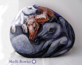 Horses Three, Painted Rocks, OOAK by Shelli Bowler Original design