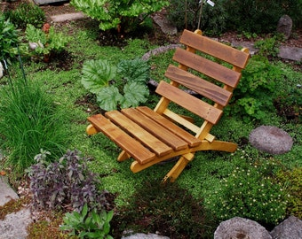 Cedar Chair for Outdoor Comfort - Color: Natural Cedar - Storable - 12 stain colors available - handcrafted outdoor furniture Laughing Creek