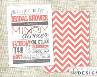 sweet typography bridal shower invite // diy printable invitation