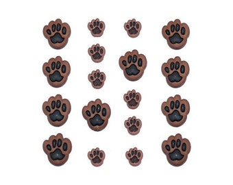 Dog Paw Buttons