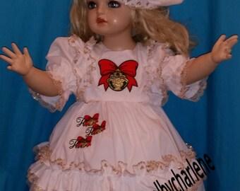Custom Made OOAK Jingle Ho Ho Ho Christmas  Dress