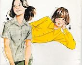 Kwik Sew 795 blouse shirt front button collar pattern