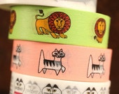 MT ex 2014 A/W - Japanese Washi Masking Tape Lisa Larson Series - Felix the cat or Green Lion at your choice