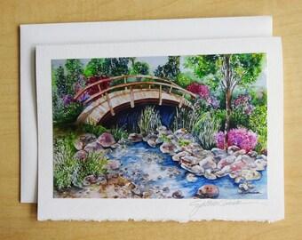 WILLOW BRIDGE - Fine Art Note Card