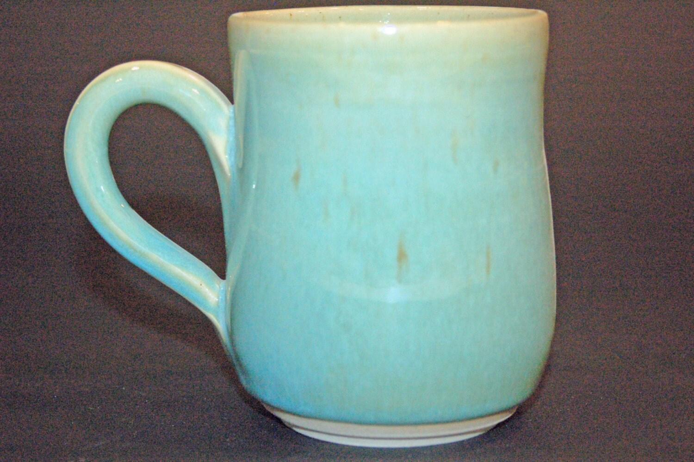 Ceramic Coffee Mug Pottery Handmade Green Ceramics and