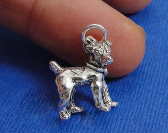 Jack Russell Terrier Charm - Silver Plated Jack Russell Dog Charm for Necklace or Bracelet