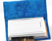 Going Out of Business Quilted Checkbook Cover - Blue Swirl