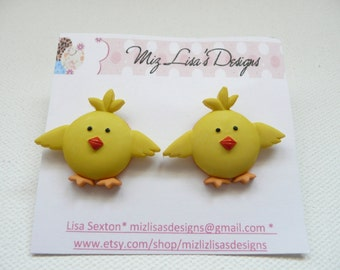 Yellow Chick Stud Earrings
