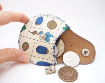 Vintage Acorns Coin Purse / The Mini Gypsy Change Purse / Ready to Ship U.S. / Made to Order International
