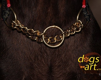 dogs-art Upgrade Martingale Chain Collar to a BRASS Chain Collar