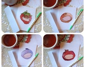 Note Card Set - Fruit Head Kids - Set of 4 Cards