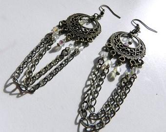Earrings Victorian Style Chain Earrings Neo-Victorian Steampunk Earrings Now On Sale!