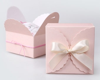 20  mini boxes in light pink for french macaron