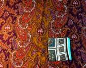 Three Beautiful Vintage Paisley Print Challis Scarves