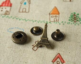 zakka Eiffel Tower Paris snap buttons