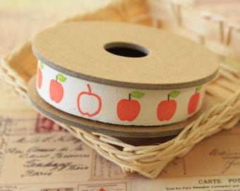 3m zakka APPLES Cotton sewing tape label trim